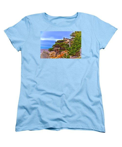 Pebble Beach Ca Women's T-Shirt (Standard Cut) by Richard J Cassato