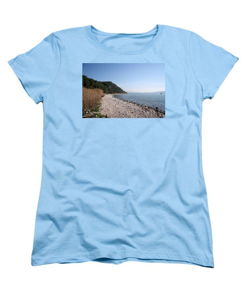 Women's T-Shirt (Standard Cut) featuring the photograph Pebbled Beach by Tracey Harrington-Simpson