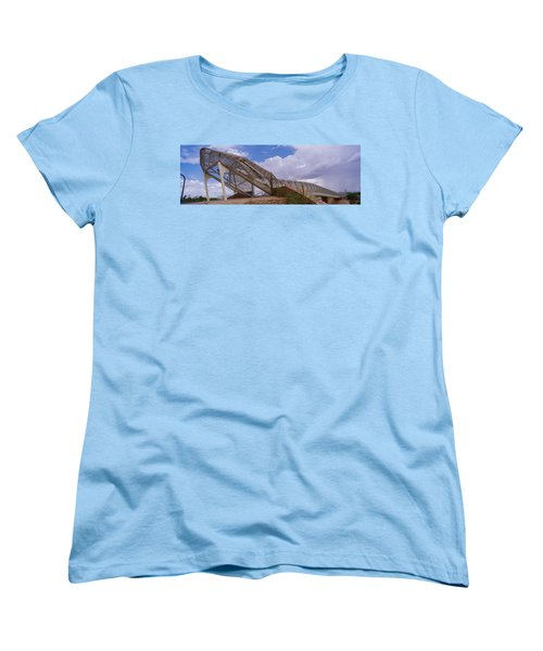 Pedestrian Bridge Over A River, Snake Women's T-Shirt (Standard Cut) by Panoramic Images