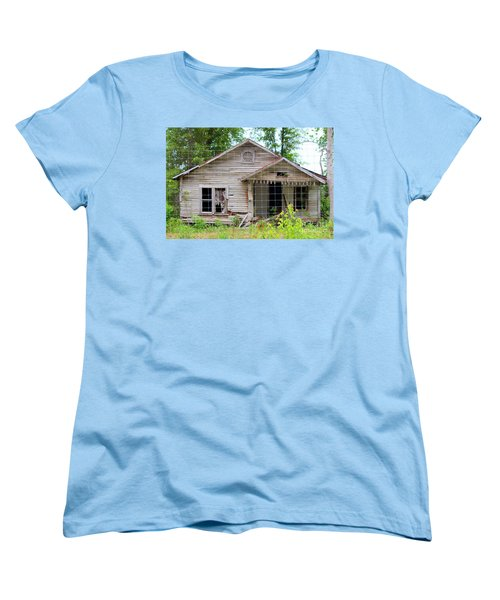 Women's T-Shirt (Standard Cut) featuring the photograph Peeking In At The Past by Kathy  White
