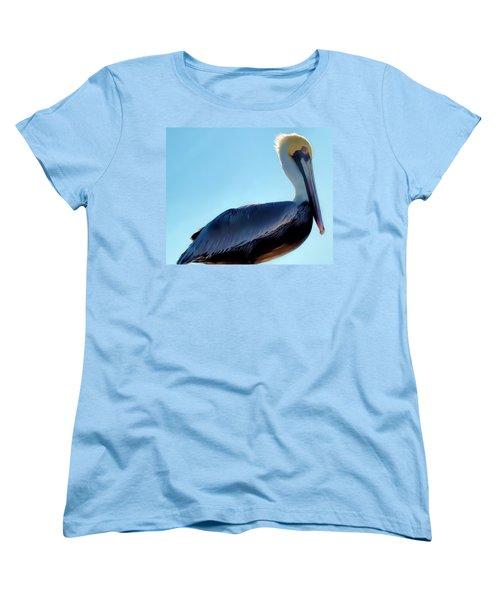 Women's T-Shirt (Standard Cut) featuring the photograph Pelican 1 by Dawn Eshelman