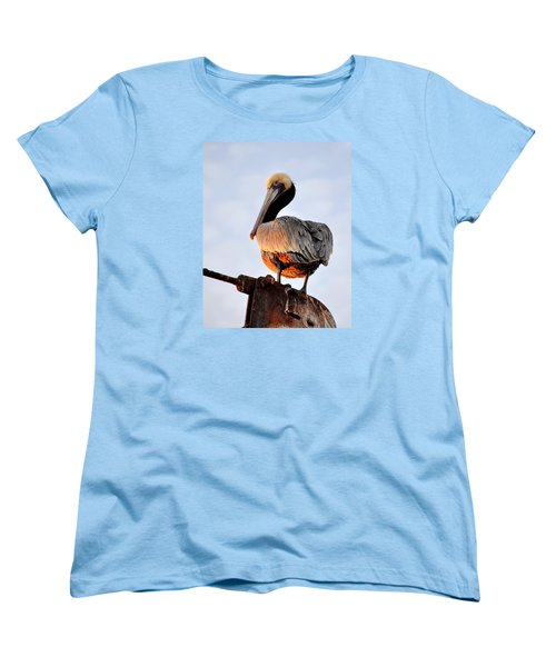 Pelican Looking Back Women's T-Shirt (Standard Cut)