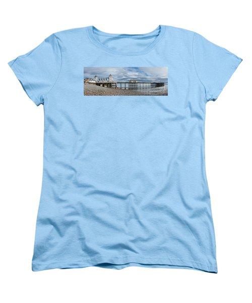 Penarth Pier Panorama 1 Women's T-Shirt (Standard Cut) by Steve Purnell