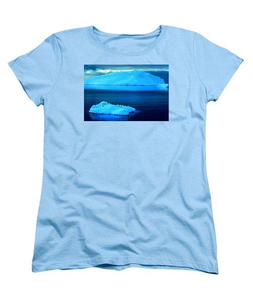 Penguins On Iceberg Women's T-Shirt (Standard Cut) by Amanda Stadther