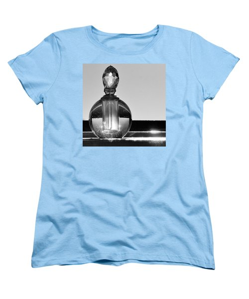 Women's T-Shirt (Standard Cut) featuring the photograph Perfume Bottle Inversion by Lilliana Mendez