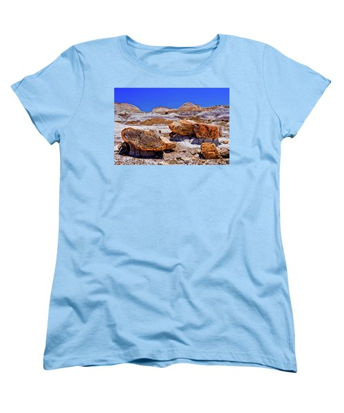 Women's T-Shirt (Standard Cut) featuring the photograph Petrified Forest - Painted Desert by Bob and Nadine Johnston