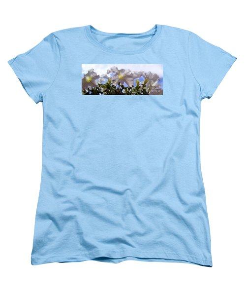 Women's T-Shirt (Standard Cut) featuring the photograph Petunia Sky by Janice Westerberg