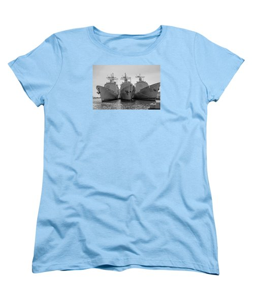 Philadelphia Navy Yard B - W  Women's T-Shirt (Standard Cut) by Susan  McMenamin
