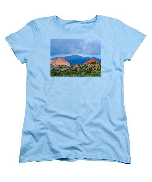 Pikes Peak Women's T-Shirt (Standard Cut) by Dan Miller