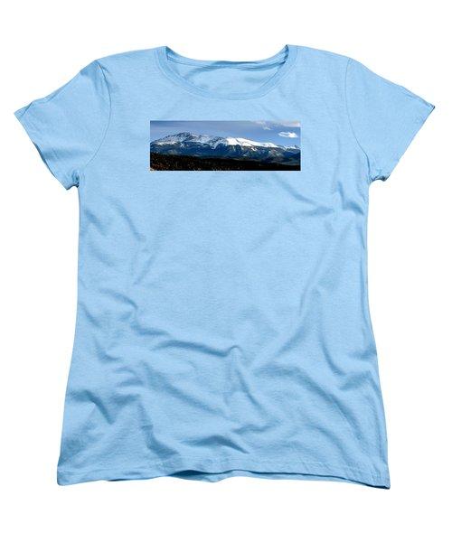Pikes Peak Panorama Women's T-Shirt (Standard Cut) by Marilyn Burton