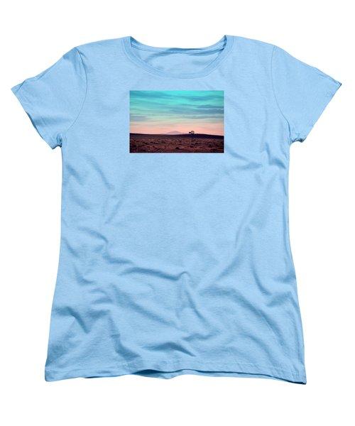 Pikes Peak To Prairie Women's T-Shirt (Standard Cut) by Clarice  Lakota