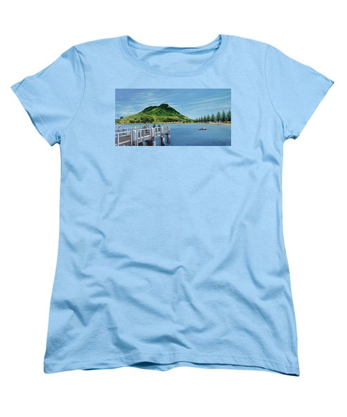 Women's T-Shirt (Standard Cut) featuring the painting Pilot Bay 280307 by Sylvia Kula
