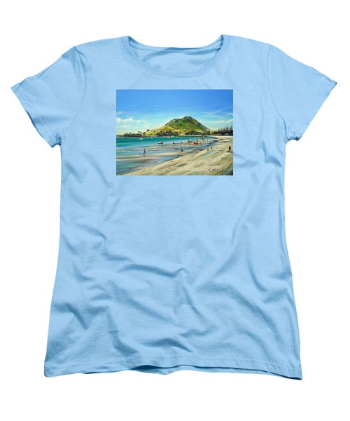 Women's T-Shirt (Standard Cut) featuring the painting Pilot Bay Mt M 050110 by Sylvia Kula