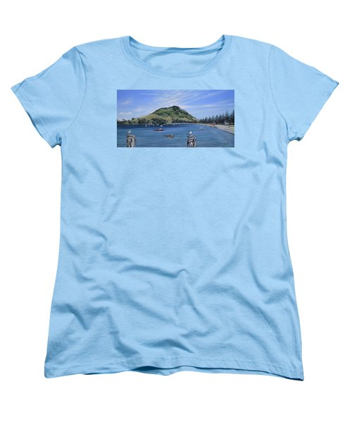 Women's T-Shirt (Standard Cut) featuring the painting Pilot Bay Mt M 291209 by Sylvia Kula