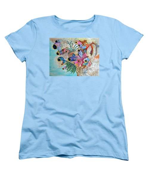 Pink Beach Sea Squirts Women's T-Shirt (Standard Cut) by Patricia Beebe