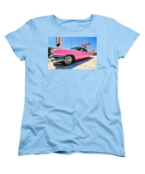 Pink Cadillac Women's T-Shirt (Standard Cut) by Liane Wright