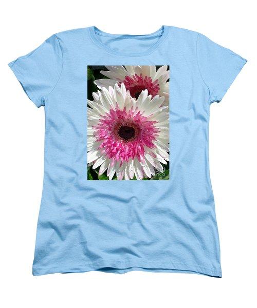 Women's T-Shirt (Standard Cut) featuring the photograph Pink N White Gerber Daisy by Sami Martin