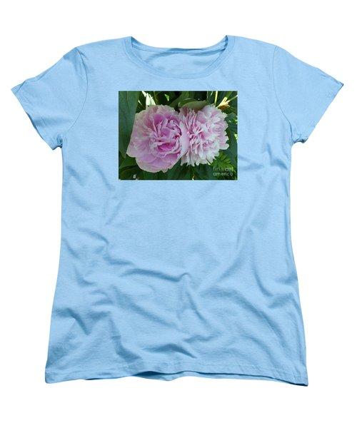 Pink Peonies 2 Women's T-Shirt (Standard Cut) by HEVi FineArt