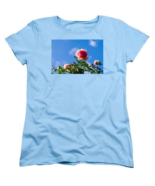 Pink Roses - Featured 3 Women's T-Shirt (Standard Cut) by Alexander Senin
