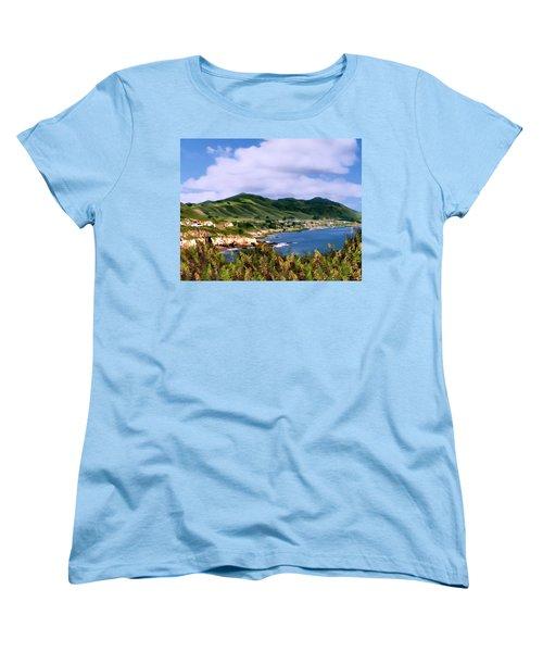 Pirates Cove Women's T-Shirt (Standard Cut) by Kurt Van Wagner