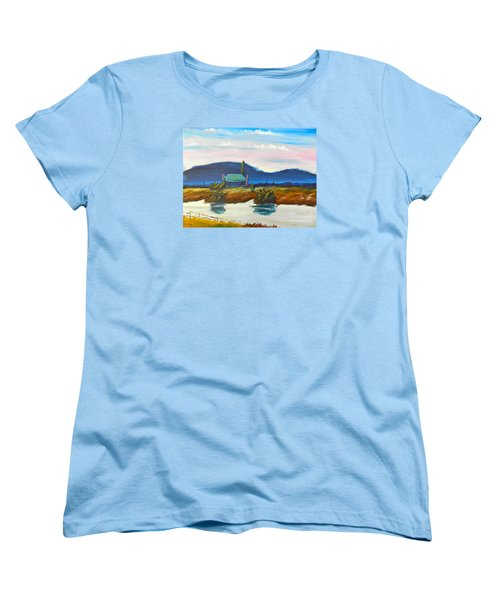 Women's T-Shirt (Standard Cut) featuring the painting Pittown by Pamela  Meredith