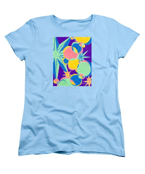 Planets And Stars Women's T-Shirt (Standard Cut) by Kim Sy Ok