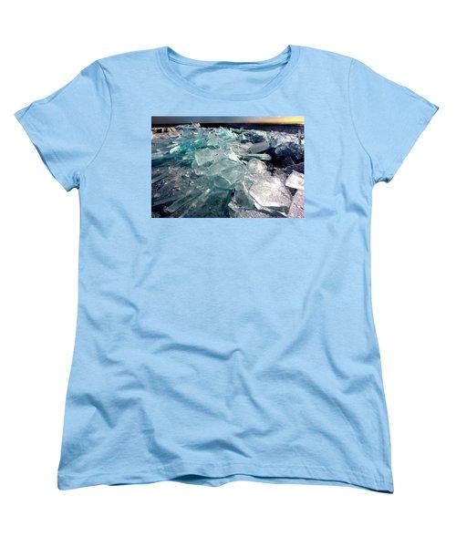 Plate Ice  Women's T-Shirt (Standard Cut) by Amanda Stadther