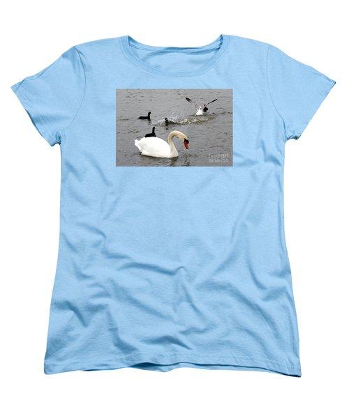 Playful Fun On The Lake Women's T-Shirt (Standard Cut) by Kathy  White