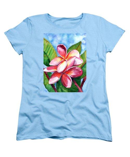 Playful Plumeria Women's T-Shirt (Standard Cut)