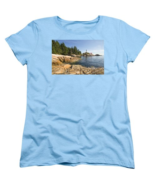 Women's T-Shirt (Standard Cut) featuring the photograph Point Atkinson Lighthouse In Vancouver Bc by JPLDesigns