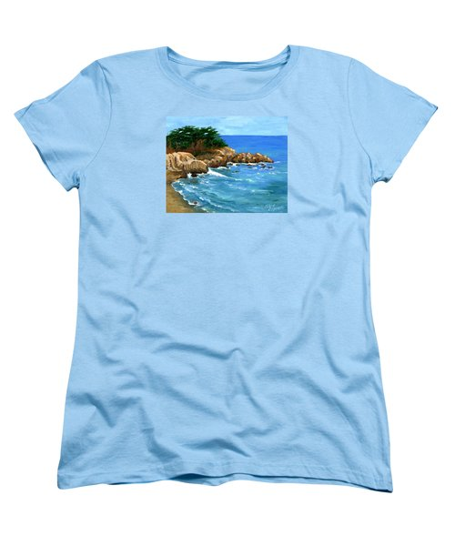 Point Lobos Coast Women's T-Shirt (Standard Cut) by Alice Leggett