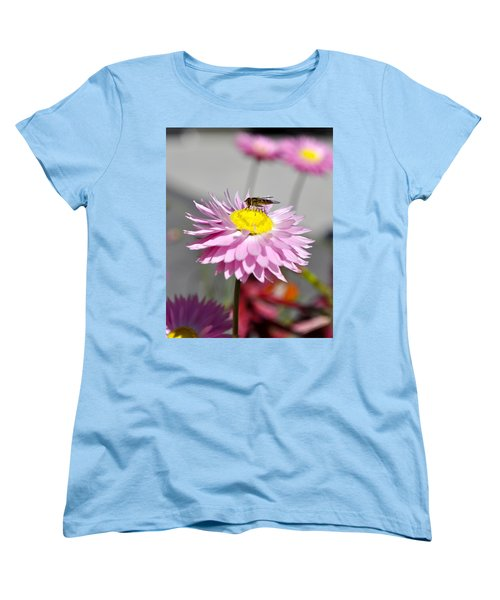 Women's T-Shirt (Standard Cut) featuring the photograph Pollination by Cathy Mahnke