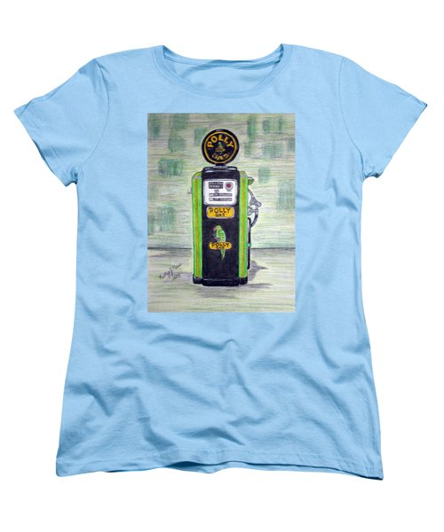 Polly Gas Pump Women's T-Shirt (Standard Cut) by Kathy Marrs Chandler