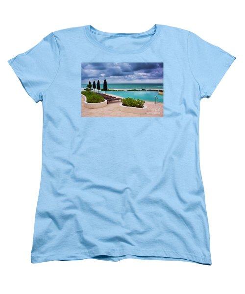 Women's T-Shirt (Standard Cut) featuring the photograph Pool At Rosewood Mayakoba by Teresa Zieba