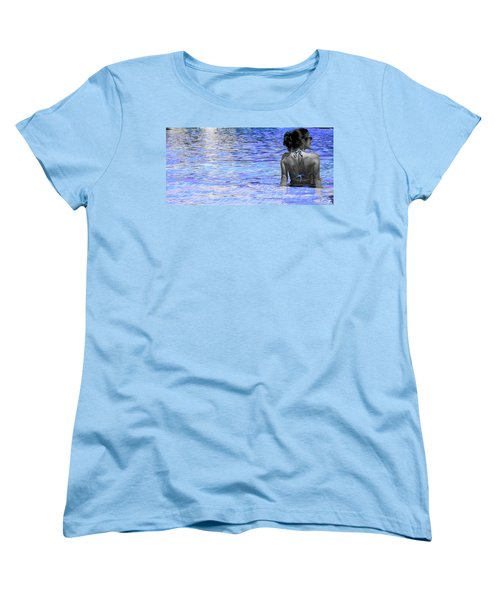 Women's T-Shirt (Standard Cut) featuring the photograph Pool by J Anthony