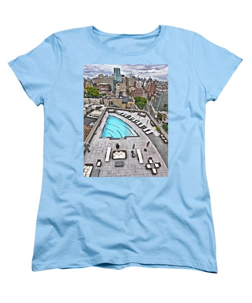 Pool With A View Women's T-Shirt (Standard Cut) by Steve Sahm