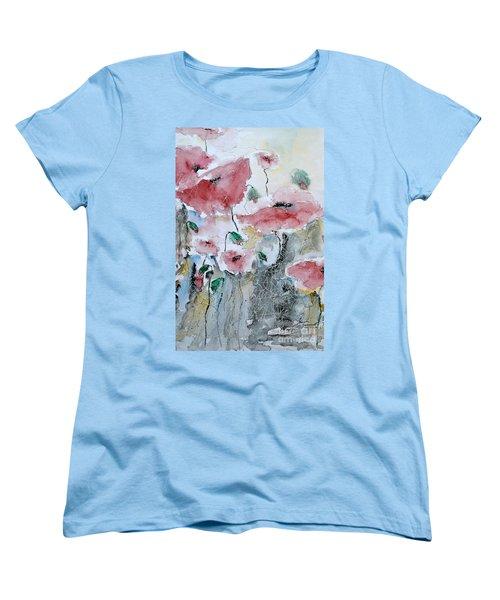 Poppies 01 Women's T-Shirt (Standard Cut) by Ismeta Gruenwald