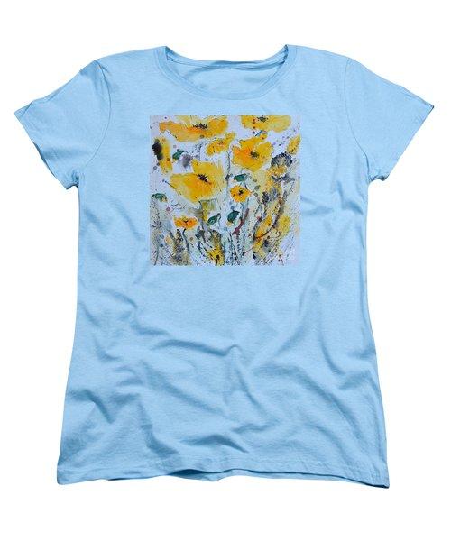 Poppies 03 Women's T-Shirt (Standard Cut) by Ismeta Gruenwald
