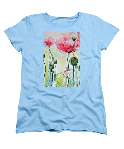 Poppies Women's T-Shirt (Standard Cut) by Ismeta Gruenwald