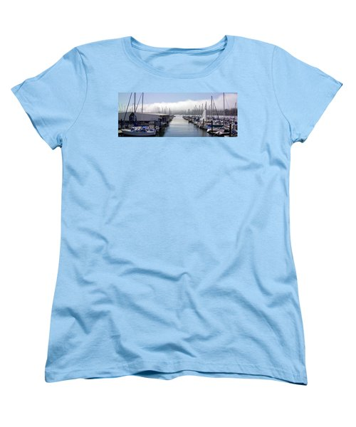 Women's T-Shirt (Standard Cut) featuring the photograph Port Kingston Marina by Greg Reed