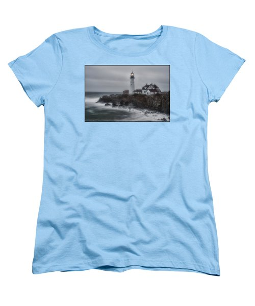 Portland Head Nor'easter Women's T-Shirt (Standard Cut)