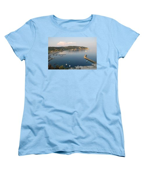 Women's T-Shirt (Standard Cut) featuring the photograph Porto Bay by George Katechis