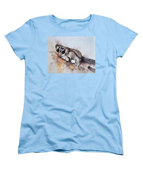 Possum Cute Sugar Glider Women's T-Shirt (Standard Cut) by Sandra Phryce-Jones