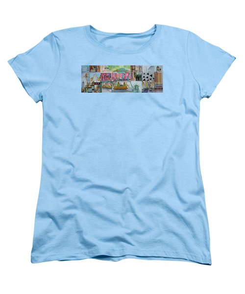 Postcards From New York City Women's T-Shirt (Standard Cut) by Jack Diamond