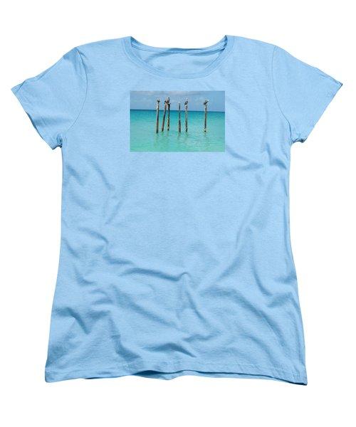Posted Seagull Women's T-Shirt (Standard Cut) by David and Lynn Keller