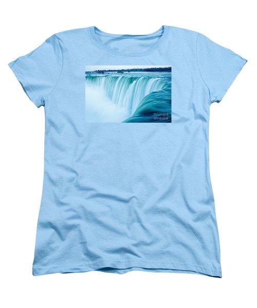 Power Of Niagara Falls Women's T-Shirt (Standard Cut) by Peta Thames