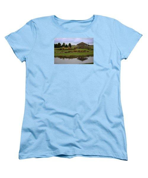 Women's T-Shirt (Standard Cut) featuring the photograph Prairie Arboretum  by Rebecca Davis