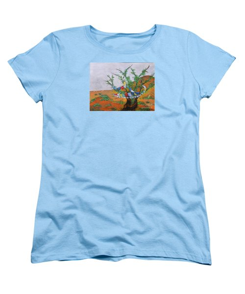 Prayer Flags Women's T-Shirt (Standard Cut) by Deborha Kerr