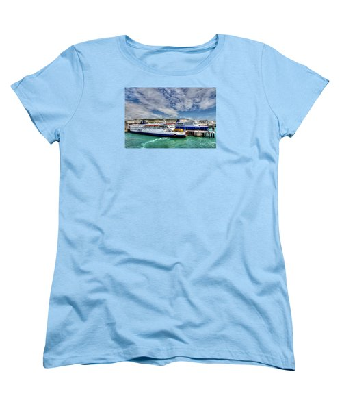 Preparing To Cross The Channel Women's T-Shirt (Standard Cut) by Tim Stanley