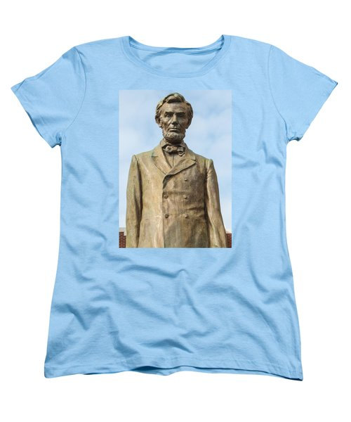 President Lincoln Statue Women's T-Shirt (Standard Cut) by Tikvah's Hope